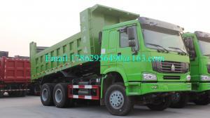 China SINOTRUK HOWO 6x4 Dump Truck , 10 Wheeler Dump Truck With 30cbm And HW76 Lengthen Cab on sale