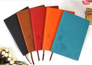 China Professional Leather Diary 80 Page Notebook Black / Brown For Business on sale