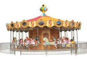 China Revolving Horse Carousel Kiddie Ride With Electronic for 24 People HR-QF033 on sale