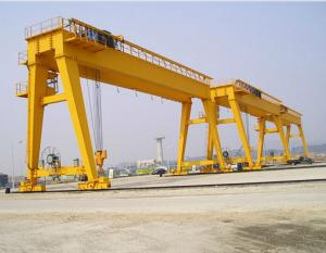 China Professional Single Hook 50 - 200 Ton Double Girder Cranes With Cabin on sale