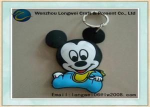 China Baby micky pattern soft PVC keychain/rubber keychain as personalized gift on sale