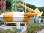 Corrediça de água super personalizada da bacia do espaço da fibra de vidro para o equipamento engraçado do parque de diversões