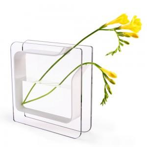 China rectangular acrylic vase on sale