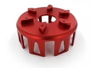 China Red 6061 Anodized Aluminum Parts High Precision CNC Machining Service on sale