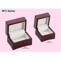 Wooden Double Ring Box, Jewelry Packaging Boxes With Customized Logo
