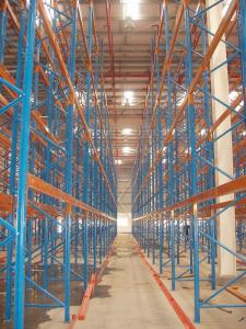 China Cold roll steel narrow aisle racking systems for carton flow , 1500kg on sale