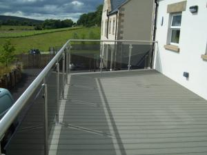 China Environmental WPC Deck Flooring Anti - UV Dark Grey For Balcony , wpc  material on sale