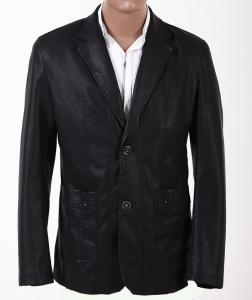 China Big and Tall, 100% Viscose and Knitting, Stylish and Classic Mens PU Leather Suits on sale