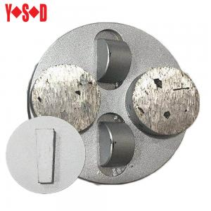 China Half PCD with Two Round Segment Diamond Grinding Shoes with quick shift backing on sale