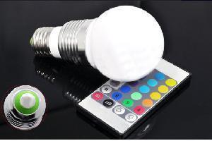 China 3W E27 RGB LED Bulb Light on sale