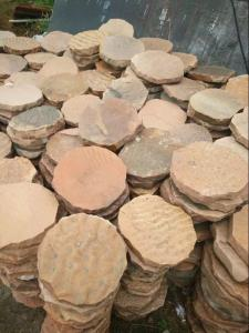 Quality Pink Sandstone Round Stepping Stones Garden Paving Stone Sandstone  Landscaping Patio For Sale ...