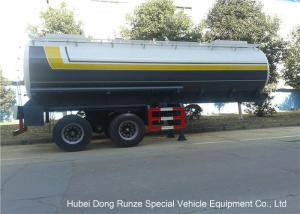 China Dual Axle 32 Ton Tank Semi Trailer Single Point Suspension For Hydrofluoric Acid / HCL on sale