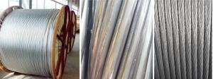China Standard Type Overhead Line Conductor Aluminium Clad Steel 10 - 18 Isokeraunic Level on sale