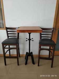 China Mild Steel Bar Table legs Cast Iron Bar Table Bag Hooker Cafe Table Height 41'' on sale