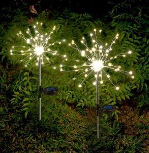 China 2 Modes Warm White 6W Decorative Solar Garden Lights Firework on sale