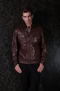 China Men's jackets with Custom Colors / Size PU Suit Warm Lining Mens Leather Suits on sale