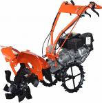 Self propelled garden management machine with timer micro tiller adjustable fender scarifier