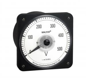 China Wide Angle Advanced  Analog Panel Voltmeter , Analog Electric Meter With Alarm Output on sale