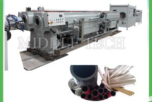 China Dual Cavity PVC Pipe Extrusion Line , Electric Conduit Screw Extruder Machine on sale