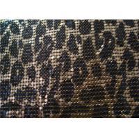 Silkscreen Metallic Sequin Curtain Fabric , Aluminum Mesh Fabric For Decoration