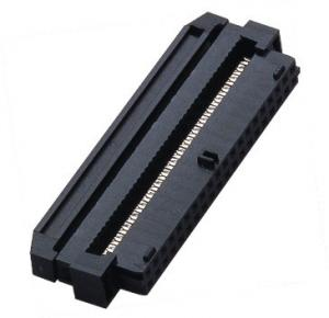 China IDC Socket Connector 2.00mm With Ramp Locking PBT Black  Spring TYPE ROHS on sale