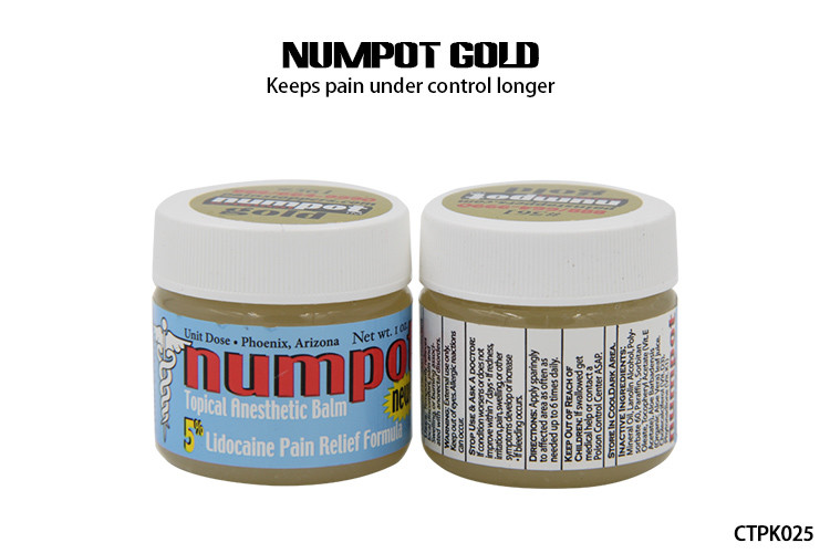 Numpot Gold Permanent Makeup Numbing Cream Tattoo 5% Ointment Pain ...