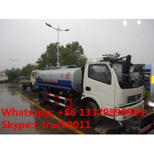 China DFAC DLK 6-7 ton water sprinkler truck exported to Congo, factpry sale best price stainless steel water tank truck on sale
