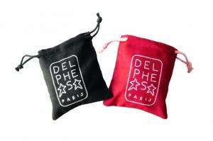China Pure Cotton Drawstring Pouch Custom Printing , Recyclable Bags on sale