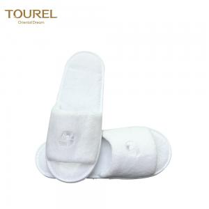 China Jiangsu supply open toe coral fleece wedding slippers for guests on sale