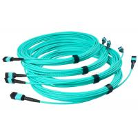 10G Multimode OM3 Aqua Color 3 Meter 8/12 Core MPO-MPO Patch Cord