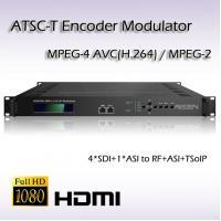 SDI Encoder&Modulator MPEG-2/H.264 SDI TO ATSC Four-Channel Encoder Modulator VCT supported for ATSC mode
