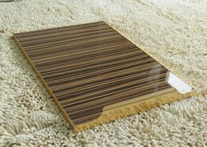China Wood Grain MDF UV Coated MDF Board For Cabinet , 1220 × 2440mm 4'*8' just Big Boards on sale