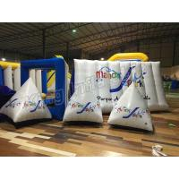 Triangle Airtight  Inflatable Floating Buoys Water PVC Toys With CE Approved Air Pump