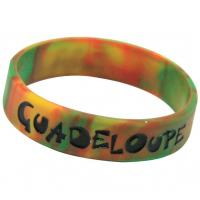 Silicone Bracelet mixed colors, Silicone Wristband with Camouflage Color