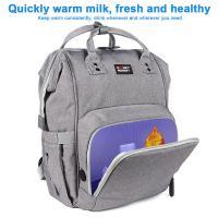 China Customized L26*D19*H43 cm LED Light UV Disinfection Diaper Bag on sale