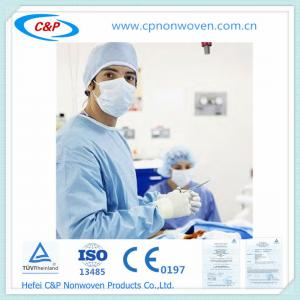 Quality From China manufacture reinforced sterile Surgical SMS gowns for sale