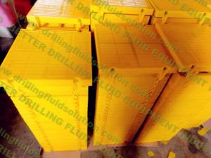 China Polyurethane Screen Panel Shale Shaker Screens Yellow Red Green Blue Color for different working temperature on sale