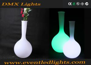China Bright Fashionable Led Flower Pots Home Decorative Built In Lights on sale