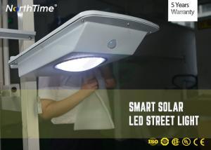 China 7000k 12V Epistar LED Solar Street Lights With Full Capacity Lithium Battery on sale