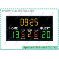 Electronic Basketball Scoreboards For College / High School WIth Team Name and Time Display