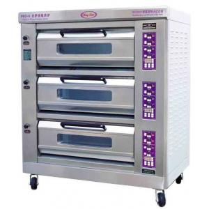 China Luxury Commercial Pizza Oven With Microcomputer Control 3 Layer 6 Trays on sale