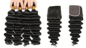 China Healthy 30'' Peruvian Human Hair Weave / Peruvian Body Wave Bundles on sale