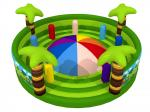 Round Shape Interesting Outdoor Inflatable Sports Games Forest Painting Mountain With Fence Walls