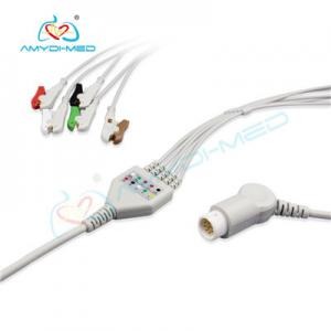 China Philips compatible direct-connect ECG cable 5 leads clip IEC on sale