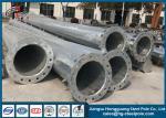 7M - 15M Steel Tubular Pole Electric Power Pole Polygonal Shape High Voltage
