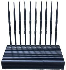 China EST-505F10 Desktop 2G 3G 4G 5G 10 Bands WiFi Signal Jammer wholesale