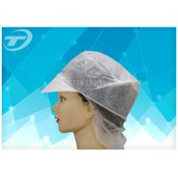 China Women SPP Snood Disposable Surgical Caps With Peak And Hairnet on sale
