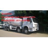 Sinotruk Howo 6x4 Concrete Mixer Truck / Concrete Mixing Equipment 6cbm 70 Cabin With Air Condition