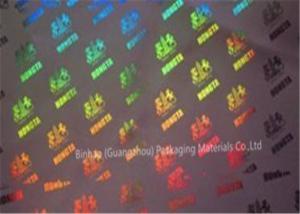China Espessura holográfica metalizada de Micorn de transferência 21 do laser do filme do polipropileno BOPP on sale