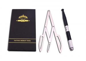 China Stainless Steel Tattoo Accessories , Manual Tattoo Tool Eyebrow Stencil Ruler on sale